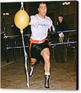 Rocky Marciano Striking Bag Canvas Print