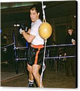 Rocky Marciano Training Hard Canvas Print by Retro Images Archive