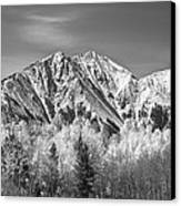 Rocky Mountain Autumn High In Black And White Canvas Print