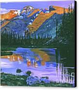 Rocky Mountain Lake Canvas Print by David Lloyd Glover
