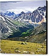Rocky Mountains In Jasper National Park Canvas Print by Elena Elisseeva