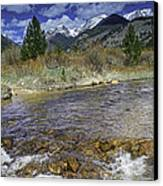 Rocky Mountains Canvas Print by Tom Wilbert