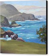 Rocky Point Big Sur Canvas Print by Karin  Leonard