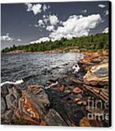 Rocky Shore Of Georgian Bay I Canvas Print by Elena Elisseeva