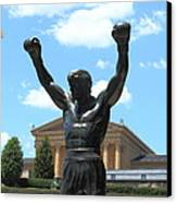 Rocky Statue Canvas Print by Lou Ford