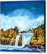 Rocky Waves North Shore Canvas Print