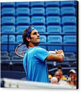 Roger Federer  Canvas Print by Nishanth Gopinathan