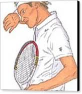 Roger Federer Canvas Print by Steven White