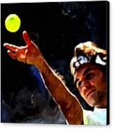 Roger Federer Tennis 1 Canvas Print by Lanjee Chee