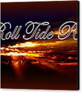 Roll Tide Roll W Red Border - Alabama Canvas Print