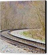 Rolling Down The Line Canvas Print by Brenda Dorman