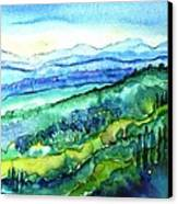 Rolling Tuscan Landscape Canvas Print by Trudi Doyle