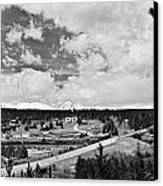 Rollinsville Colorado Small Town 181 In Black And White Canvas Print