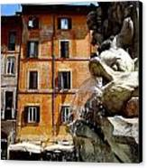 Roman Fountain  Canvas Print by Natalya Karavay