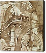 Roman Prison Canvas Print by Giovanni Battista Piranesi