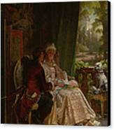 Romance Canvas Print by Carl Herpfer