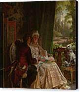 Romance Canvas Print by Carl Herpfer