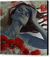 Romance Echo Canvas Print by Dorina  Costras