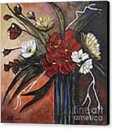 Romantic Bouquet Canvas Print by Elena  Constantinescu