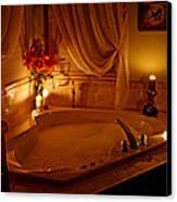 Romantic Bubble Bath Canvas Print by Kay Novy