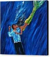 Romantic Rescue Canvas Print by Leslie Allen