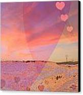 Romantic Sunset Canvas Print by Augusta Stylianou