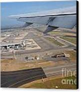 Rome Airport From An Aircraft Canvas Print