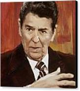 Ronald Reagan Portrait 2 Canvas Print by Corporate Art Task Force