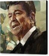 Ronald Reagan Portrait 5 Canvas Print by Corporate Art Task Force