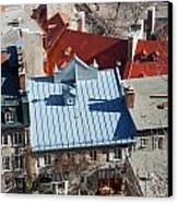 Roofs Of Quebec Canvas Print