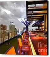 Rooftop Bar Above Eleven In Bangkok Canvas Print by Fototrav Print