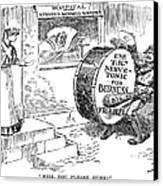 Roosevelt Cartoon, 1908 Canvas Print by Granger