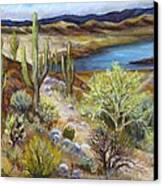 Roosevelt Lake Canvas Print by Caroline Owen-Doar