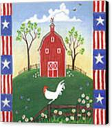 Rooster Americana Canvas Print by Linda Mears