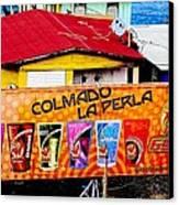 Roots Of La Perla At Old San Juan Canvas Print
