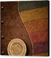 Rose Button Canvas Print by Tom Mc Nemar