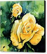 Roses 5 Canvas Print by Hanne Lore Koehler