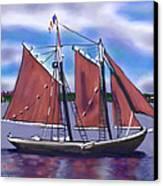 Roseway On Boston Harbor Canvas Print