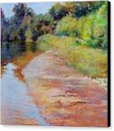 Rosy River Canvas Print