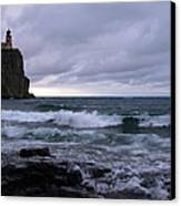 Rough Surf At Split Rock Canvas Print by James Peterson