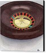 Roulette Wheel Canvas Print by Bav Patel