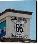 Route 66 - End Of The Trail Canvas Print by Kim Hojnacki