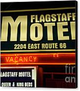 Route 66 Flagstaff Motel Canvas Print by Bob Christopher