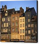 Row Of Houses. Honfleur Harbour. Calvados. Normandy. France. Europe Canvas Print by Bernard Jaubert