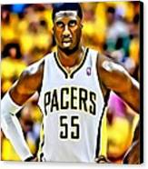 Roy Hibbert Canvas Print by Florian Rodarte