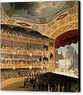 Royal Circus From Ackermanns Repository Canvas Print by T. & Pugin, A.C. Rowlandson