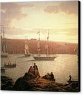 Royal Naval Vessels Off Pembroke Dock Hilford Haven Canvas Print