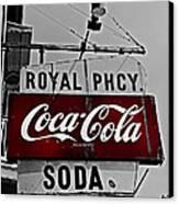 Royal Pharmacy Soda Canvas Print by Andy Crawford