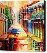 Royal Street Reflections Canvas Print by Diane Millsap
