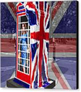 Royal Telephone Box Canvas Print by David French